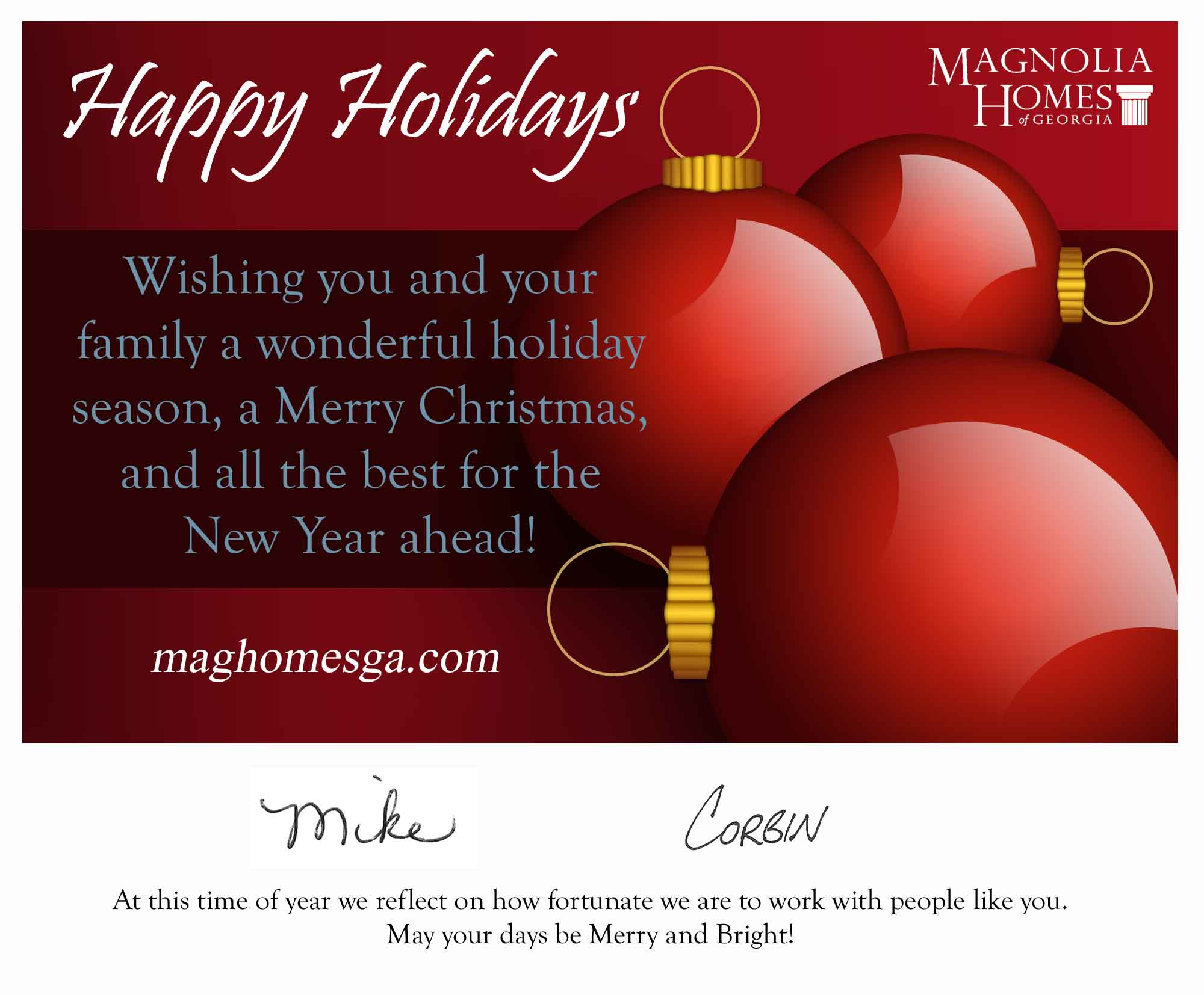 Holiday greetings from magnolia homes of georgia magnolia homes of this m4hsunfo